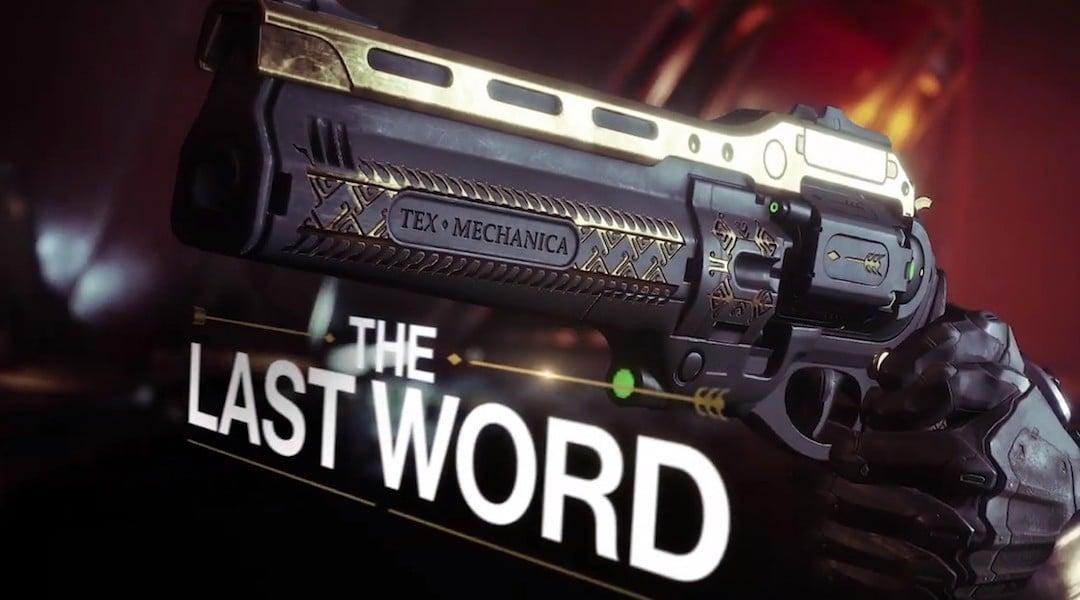 Destiny 2: The Last Word nasıl alınır?